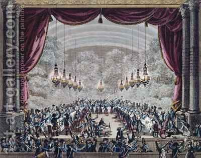Banquet hosted by the officers of the French Gardes du Corps for the officers of the Flanders Regiment by (after) Bulthuis, Jan - Reproduction Oil Painting