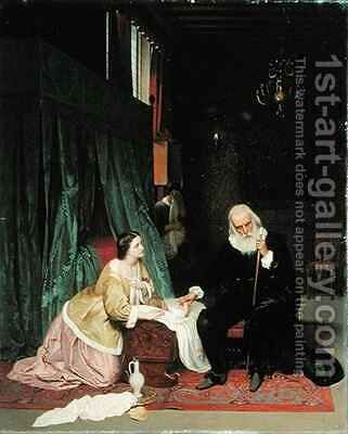 Visit of the doctor by Gustav Jakovlevich Budkovsky - Reproduction Oil Painting