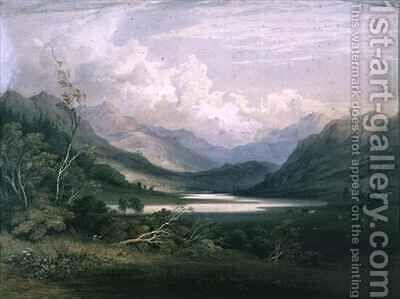 Scene in the English Lake District 2 by C. F. Buckley - Reproduction Oil Painting