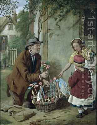 The New Toy by Henry Charles Bryant - Reproduction Oil Painting