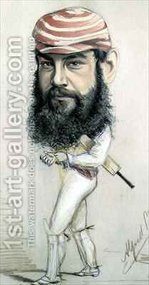 W.G. Grace by Alfred Gish Bryan - Reproduction Oil Painting