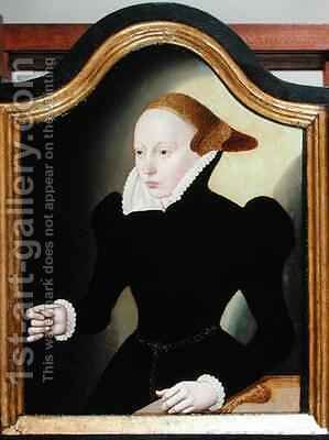 Portrait of a Young Woman by Bartholomaus the Younger Bruyn - Reproduction Oil Painting