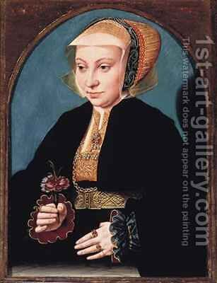 Portrait of a Lady by Bartholomaeus, the Elder Bruyn - Reproduction Oil Painting