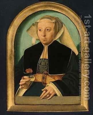 Lady with Red Flower by Bartholomaeus, the Elder Bruyn - Reproduction Oil Painting