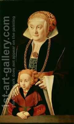 Portrait of a Woman with her Daughter by Bartholomaeus, the Elder Bruyn - Reproduction Oil Painting