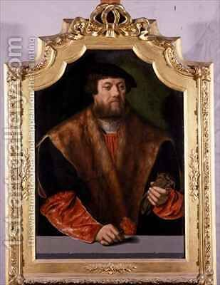 Portrait of a Nobleman by Bartholomaeus, the Elder Bruyn - Reproduction Oil Painting
