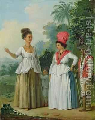 West Indian Women of Colour, with a Child and Black Servant by Agostino Brunias - Reproduction Oil Painting