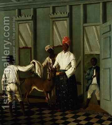 Negro Servants Washing a Deer by Agostino Brunias - Reproduction Oil Painting