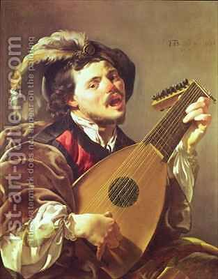 The Lute Player 2 by Hendrick Ter Brugghen - Reproduction Oil Painting