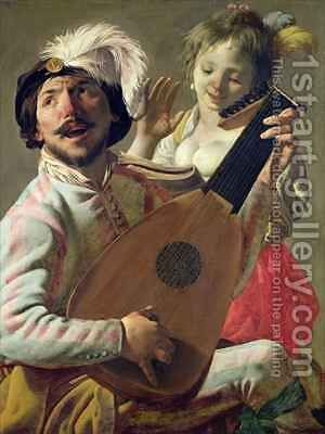 The Duet by Hendrick Ter Brugghen - Reproduction Oil Painting