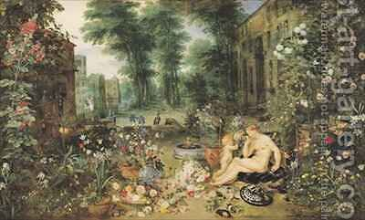 The Sense of Smell by Jan & Rubens, P.P. Brueghel - Reproduction Oil Painting