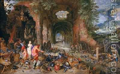 Venus in Vulcan's Forge by Jan & Balen, Hendrik van Brueghel - Reproduction Oil Painting