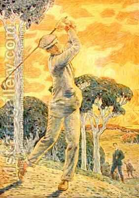 Golf by Gordon Frederick Browne - Reproduction Oil Painting