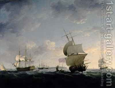 Shipping in the English Channel by Charles Brooking - Reproduction Oil Painting