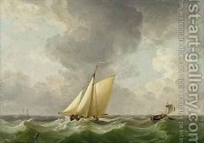 A Cutter in a Strong Breeze by Charles Brooking - Reproduction Oil Painting