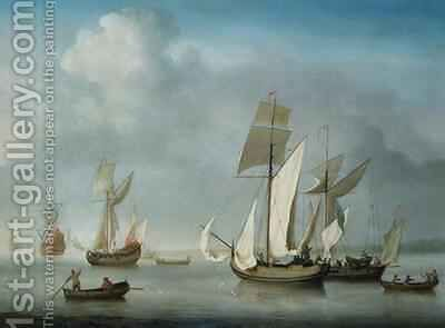 Becalmed off the Coast by Charles Brooking - Reproduction Oil Painting