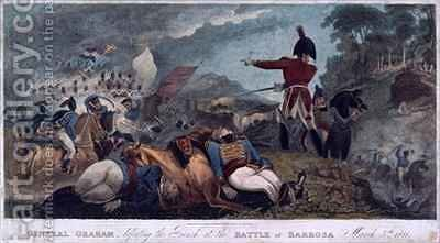 General Graham defeating the French at the Battle of Barrosa by (after) Brooke, W. Hal - Reproduction Oil Painting