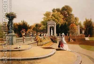 The Terrace, Trentham Hall Gardens by E. Adveno Brooke - Reproduction Oil Painting