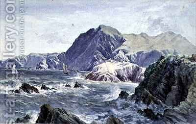Hillsborough, from the Capstone, Ilfracombe by A. Newton Brooke - Reproduction Oil Painting