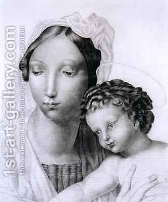 Madonna and Child by Charlotte Bronte - Reproduction Oil Painting