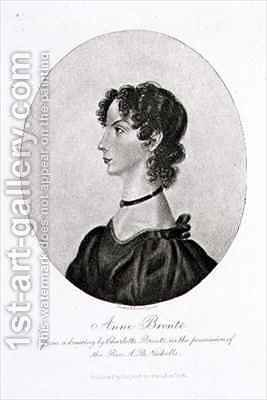Portrait of Anne Bronte (1820-49) from a drawing in the possession of the Rev. A. B. Nicholls by (after) Bronte, Charlotte - Reproduction Oil Painting