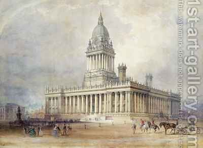 Design for Leeds Town Hall by Cuthbert Brodrick - Reproduction Oil Painting