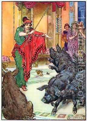 Circe, from 'The Children's Hour Stories from the Classics' by Charles Edmund Brock - Reproduction Oil Painting