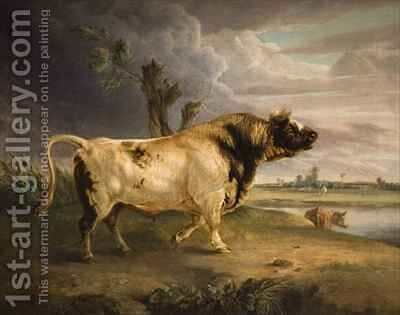A Bull by Edmund Bristow - Reproduction Oil Painting