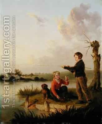 The Young Anglers by Edmund Bristow - Reproduction Oil Painting