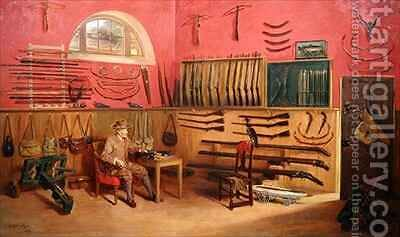 Gun Room by Anthony de Brie - Reproduction Oil Painting