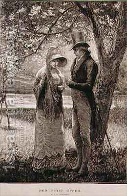 Her First Offer by (after) Brewtnall, Edward Frederick - Reproduction Oil Painting