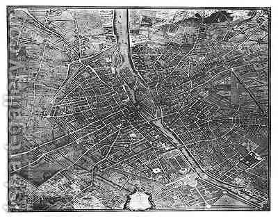 Plan of Paris, known as the 'Plan de Turgot' 3 by (after) Bretez, Louis - Reproduction Oil Painting
