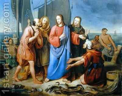 Christ Calling his Disciples by Adam Brenner - Reproduction Oil Painting