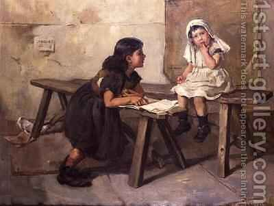 The Schoolroom by Mary Louise Breakell - Reproduction Oil Painting