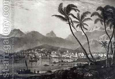 Port Louis from 'Views in the Mauritius' by (after) Bradshaw,T. - Reproduction Oil Painting