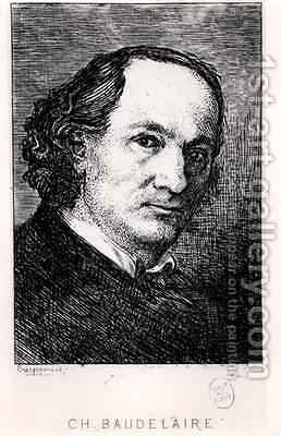 Charles Baudelaire (1821-67) by (after) Bracquemond, Felix - Reproduction Oil Painting