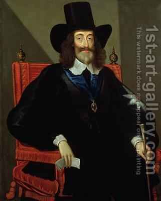 Portrait of King Charles I (1625-49) at his Trial 3 by (after) Edward Bower - Reproduction Oil Painting
