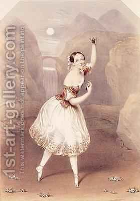 Marie Taglioni (1804-84) as Lauretta in 'La Gitana' by Augustus Jules Bouvier - Reproduction Oil Painting