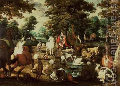 Orpheus Charming the Animals by Jacob Bouttats - Reproduction Oil Painting