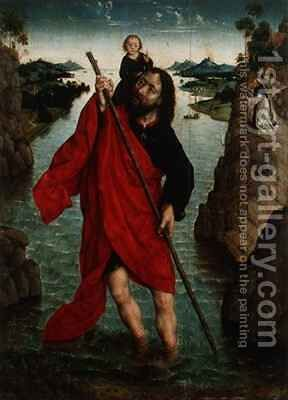 St. Christopher by Aelbrecht Bouts - Reproduction Oil Painting