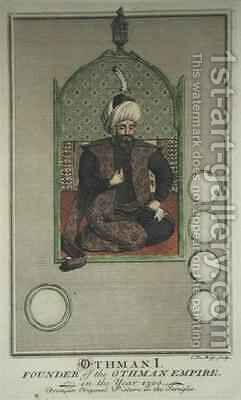 Osman I (1259-1326) founder of the Ottoman Empire in the year 1300 by Claude du Bose - Reproduction Oil Painting