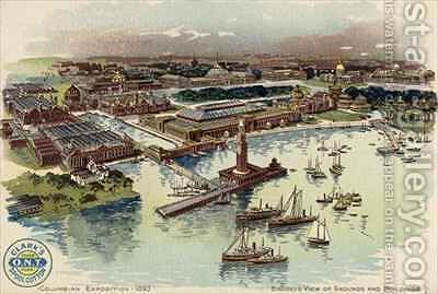 Columbian Exposition by Mario Borgoni - Reproduction Oil Painting