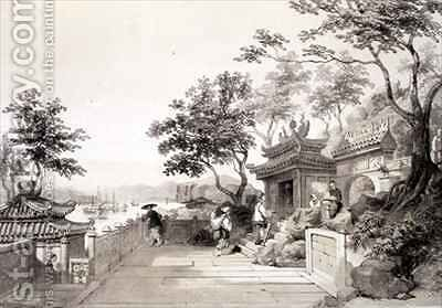 A Chapel of the Great Temple of Macao by (after) Borget, Auguste - Reproduction Oil Painting