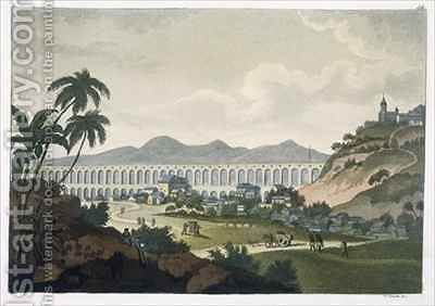 The aqueduct in Rio de Janeiro by D.K. Bonatti - Reproduction Oil Painting