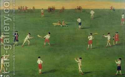 An Exact Representation of the Game of Cricket by (after) Boitard, Louis Philippe - Reproduction Oil Painting