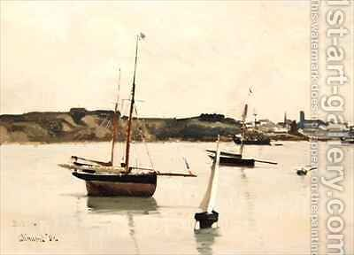 St. Servan Harbour by Edward Darley Boit - Reproduction Oil Painting