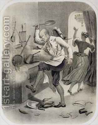 Anger in the Kitchen by (after) Louis Leopold Boilly - Reproduction Oil Painting