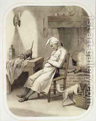 Sloth in the Kitchen by (after) Louis Leopold Boilly - Reproduction Oil Painting