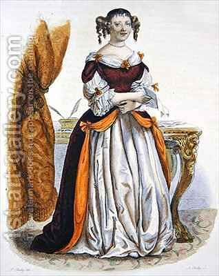 Portrait of Madame de Sevigne by (after) Boilly, Julien Leopold - Reproduction Oil Painting