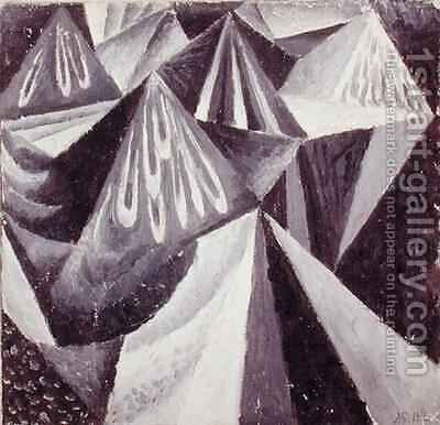 Cubo-Futurist Composition in Grey and White by Alexander Konstantinovich Bogomazov - Reproduction Oil Painting